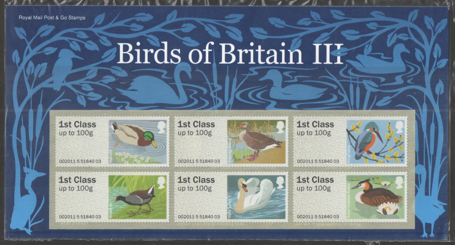 2011 Birds of Britain III Post & Go Presentation Pack P&G4