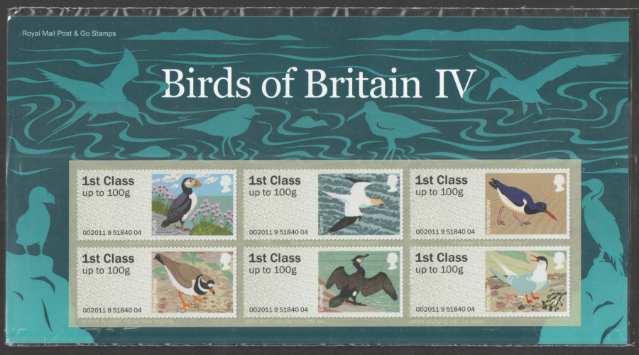 2011 Birds of Britain IV Post & Go Presentation Pack P&G5