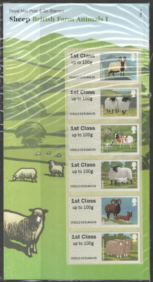 2012 Farm Animals I: Sheep Post & Go Presentation Pack P&G6