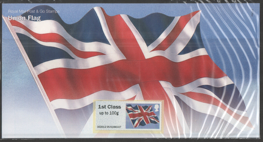 2012 Post & Go 1st Class Union Flag Presentation Pack P&G8
