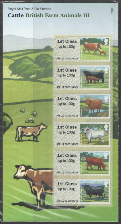 2012 Farm Animals III: Cattle Post & Go Presentation Pack P&G9