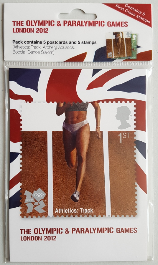 London 2012 Olympics & Paralympics postcard & stamp pack (1)