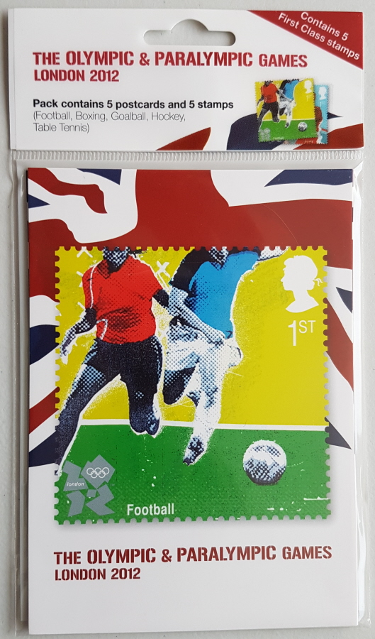 London 2012 Olympics & Paralympics postcard & stamp pack (6) - Click Image to Close