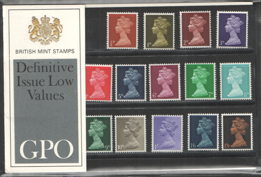 1969 Type A - One Tuft Pre-Decimal Machin Definitives Royal Mail Presentation Pack