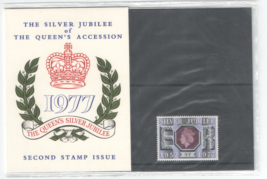 1977 Silver Jubilee Post Office Missed Private Presentation Pack