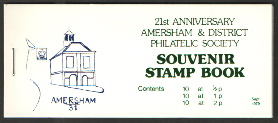 Amersham & District Philatelic Society 1979 Private Booklet