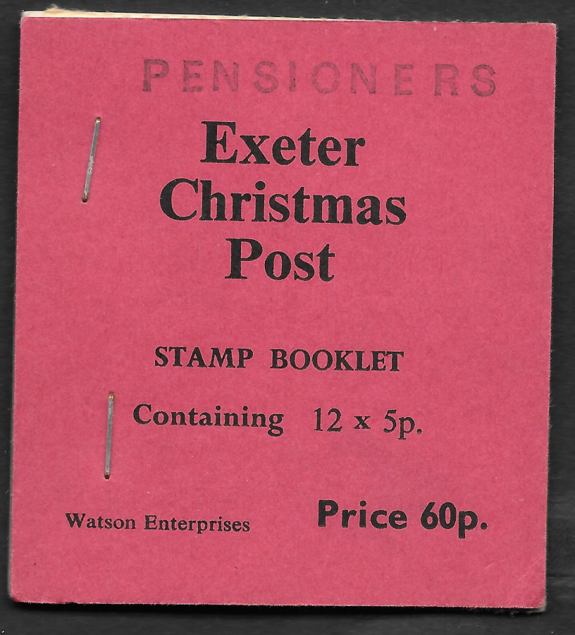 1976 Pensioners Exeter Christmas Post Privately Produced Booklet