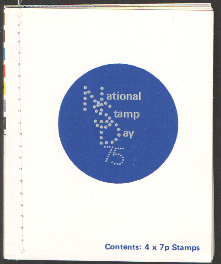 National Stamp Day 1975 Privately Produced Booklet - White stitching
