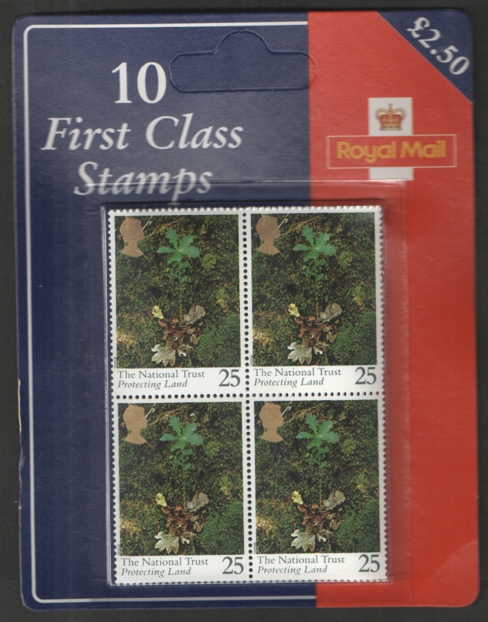 1995 National Trust 10 x 25p Royal Mail retail pack