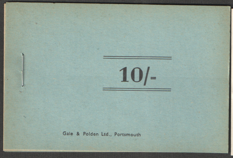 Royal Navy 10/- Chit Booklet. Cinderella stamps.