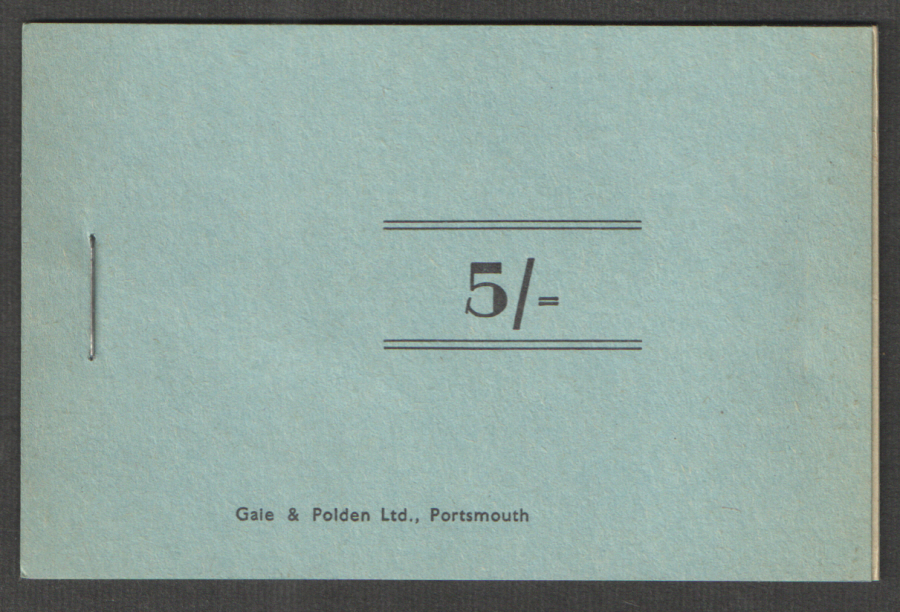 Royal Navy 5/- Chit Booklet. Cinderella stamps.
