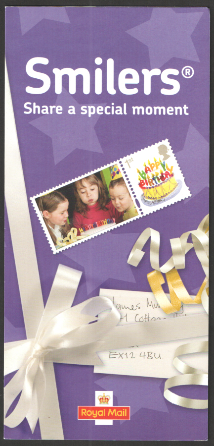 "Smilers ""Happy Birthday"" Royal Mail Promotional Leaflet Code: RMSMIL01"