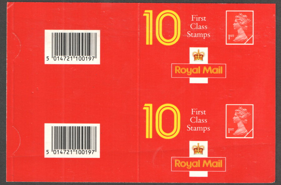 Uncut pair of Type 5A Harrison Newcastle address 1st Class booklet covers