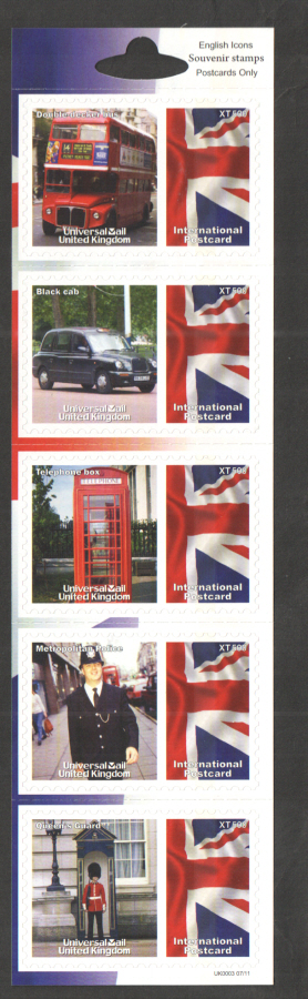 UK0003 English Icons Universal Mail Stamps Dated: 07/11