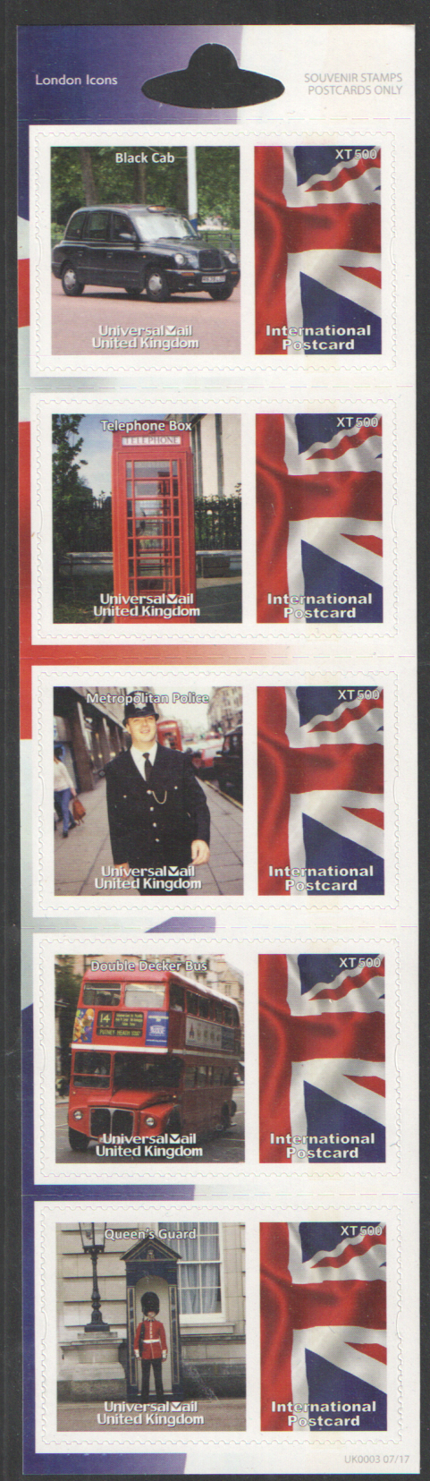 UK0003 London Icons Universal Mail Stamps Dated: 07/17