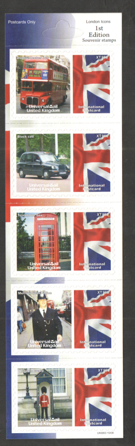 UK0003 London Icons Universal Mail Stamps Dated: 10/08