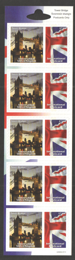 UK0004 Tower Bridge Universal Mail Stamps Dated: 07/11