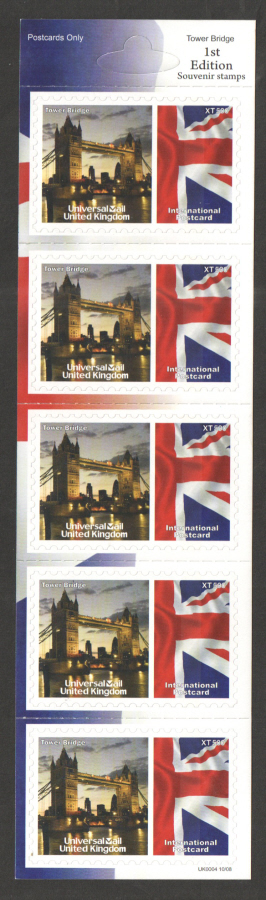 UK0004 Tower Bridge Universal Mail Stamps Dated: 10/08