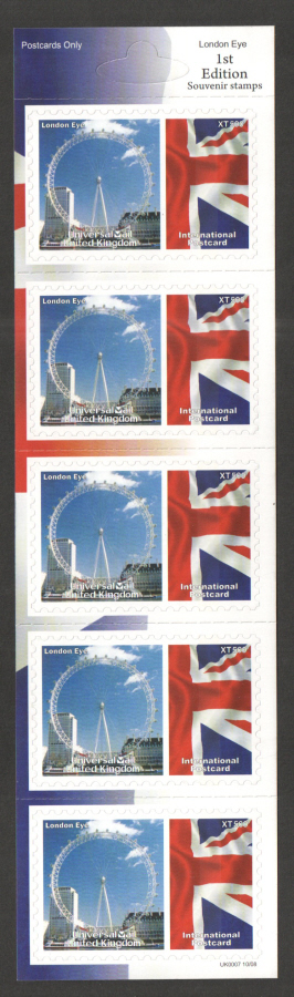 UK0007 London Eye Universal Mail Stamps Dated: 10/08