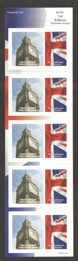 UK0008 Big Ben Universal Mail Stamps Dated: 10/08