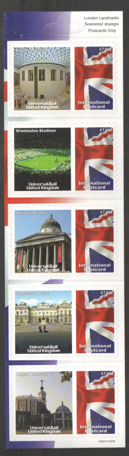 UK0010 London Landmarks Universal Mail Stamps Dated: 05/09