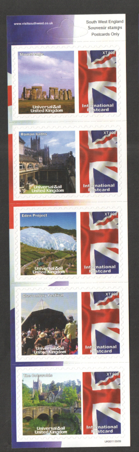 UK0011 South West England Universal Mail Stamps Dated: 05/09