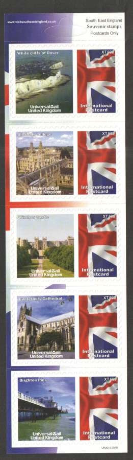 UK0012 South East England Universal Mail Stamps Dated: 05/09