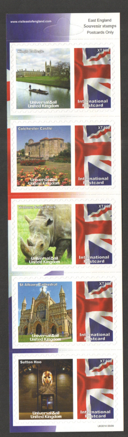 UK0014 East England Universal Mail Stamps Dated: 05/09
