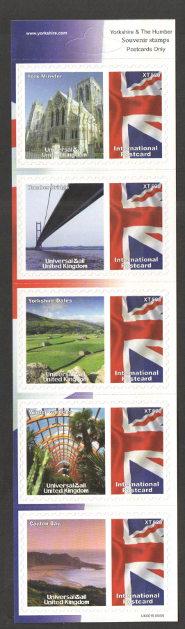 UK0015 Yorkshire & The Humber Universal Mail Stamps Dated: 05/09