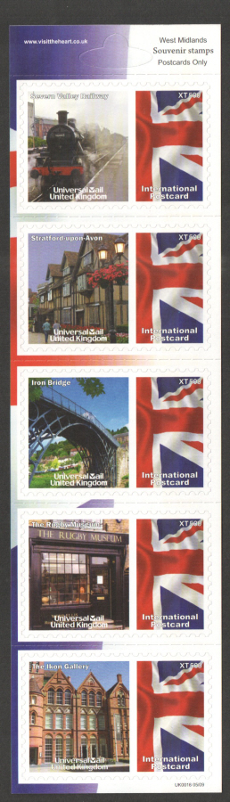 UK0016 West Midlands Universal Mail Stamps Dated: 05/09