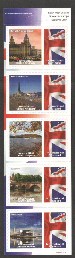 UK0017 North West England Universal Mail Stamps Dated: 05/09