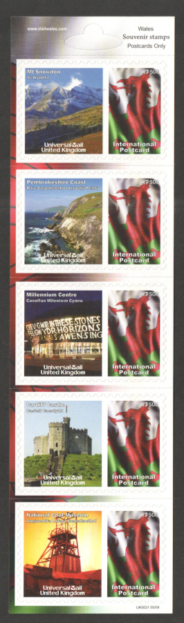 UK0021 Wales Universal Mail Stamps Dated: 05/09