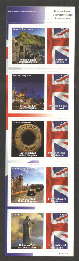 UK0022 Northern Ireland Universal Mail Stamps Dated: 05/09