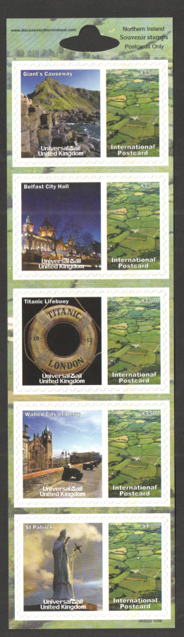 UK0023 Northern Ireland Universal Mail Stamps Dated: 11/09