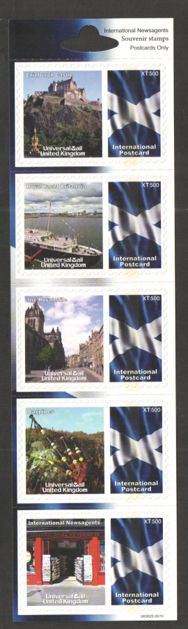 UK0025 International Newsagents Universal Mail Stamps Dated: 05/10