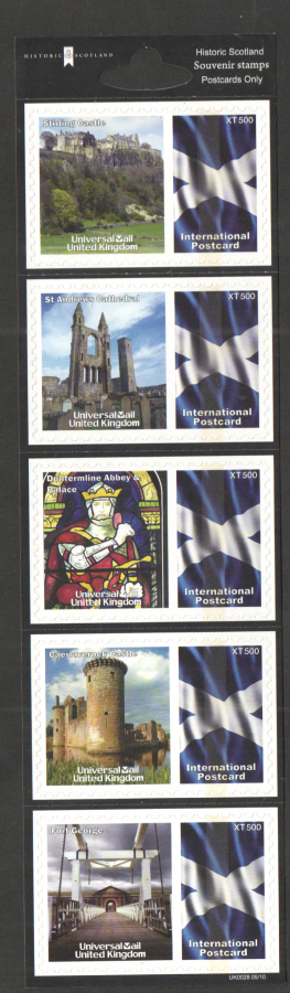 UK0028 Historic Scotland Universal Mail Stamps Dated: 05/10