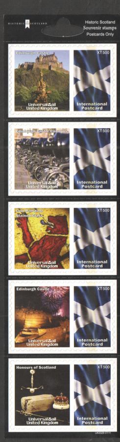 UK0029 Historic Scotland Universal Mail Stamps Dated: 07/11