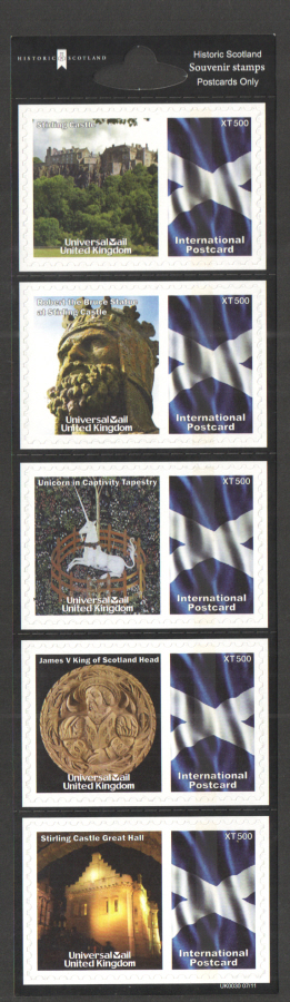 UK0030 Historic Scotland Universal Mail Stamps Dated: 07/11
