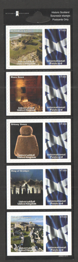 UK0031 Historic Scotland Universal Mail Stamps Dated: 07/11
