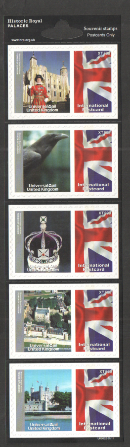 UK0032 Historic Royal Palaces Universal Mail Stamps Dated: 07/11