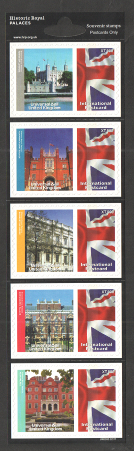 UK0033 Historic Royal Palaces Universal Mail Stamps Dated: 07/11
