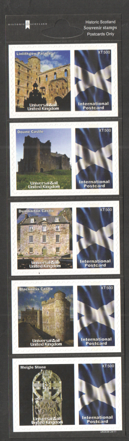 UK0036 Historic Scotland Universal Mail Stamps Dated: 24/11