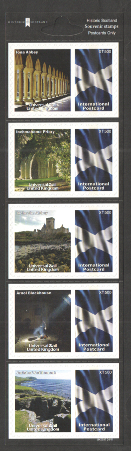 UK0037 Historic Scotland Universal Mail Stamps Dated: 24/11