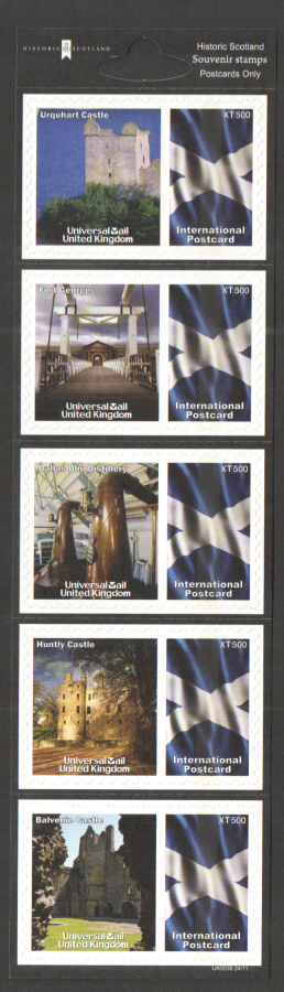 UK0038 Historic Scotland Universal Mail Stamps Dated: 24/11