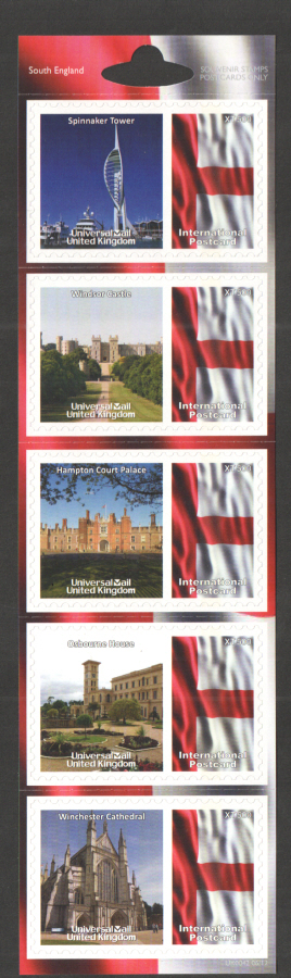 UK0042 South England Universal Mail Stamps Dated: 06/12