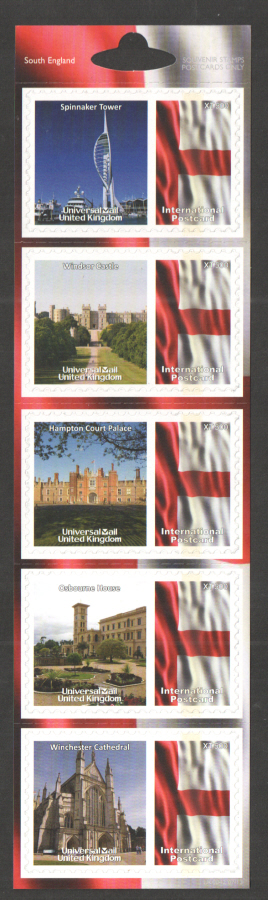 UK0042 South England Universal Mail Stamps Dated: 07/13