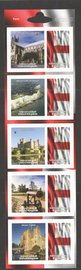 UK0043 Kent Universal Mail Stamps Dated: 06/12