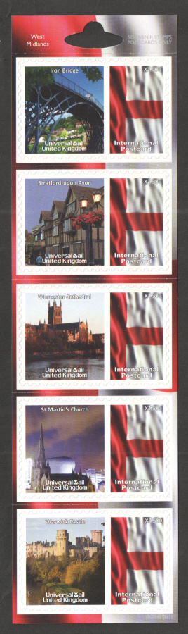 UK0048 West Midlands Universal Mail Stamps Dated: 06/12