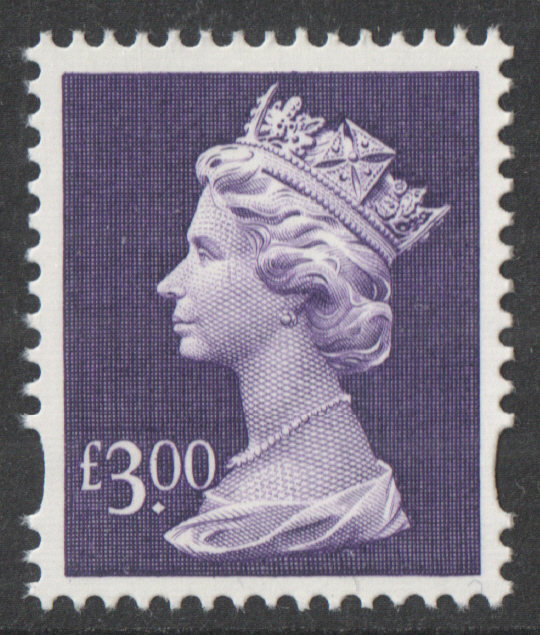 1999 £3 Dull Purple Enschede Plate 1(1) Dot Machin Cylinder Block
