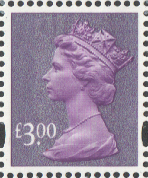 2003 £3 Purple De La Rue D1 D1 Dot Machin Cylinder Block